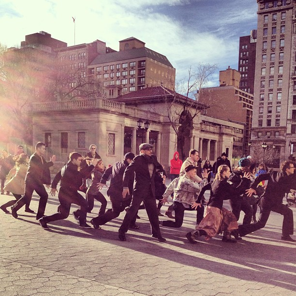 New Yorkers are walking a little weird today. It's the Sunday thing. #nyc